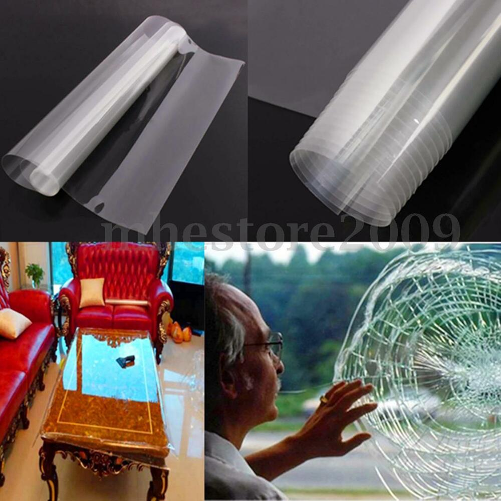 50cm X 2m Safety Security Anti Shatter Window Film Clear