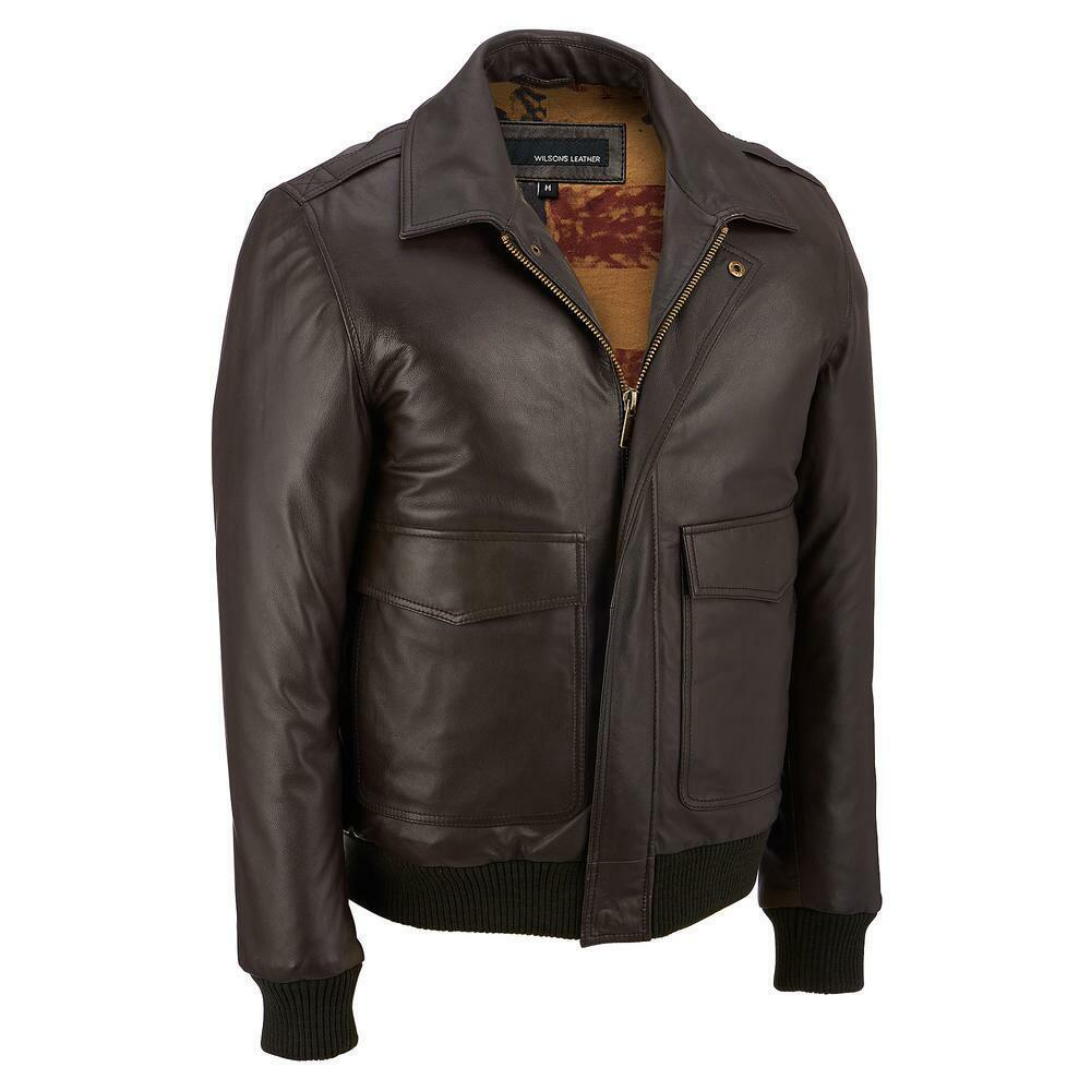 Mens leather jackets wilsons