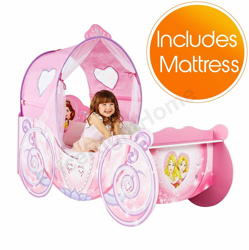 DISNEY PRINCESS CARRIAGE PINK FEATURE TODDLER BED FOAM