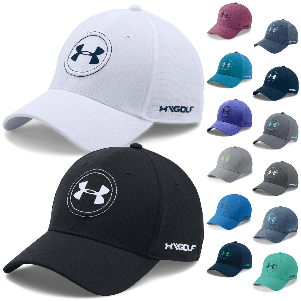 c19b4a3f6be Details about Under Armour Mens UA JS Tour Cap Stretch Fit Jordan Spieth  Golf Hat