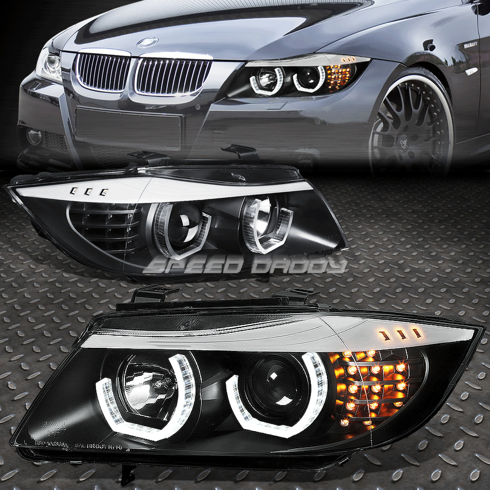 Used 328i Bmw: FOR 09-12 BMW E90 3-SERIES BLACK 3D CRYSTAL HALO PROJECTOR