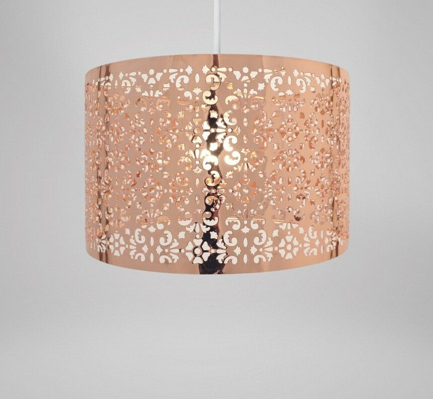 Lamp Shades For Ceiling Lights: Country Club Copper 29cm Moroccan Ceiling Light Lamp Shade