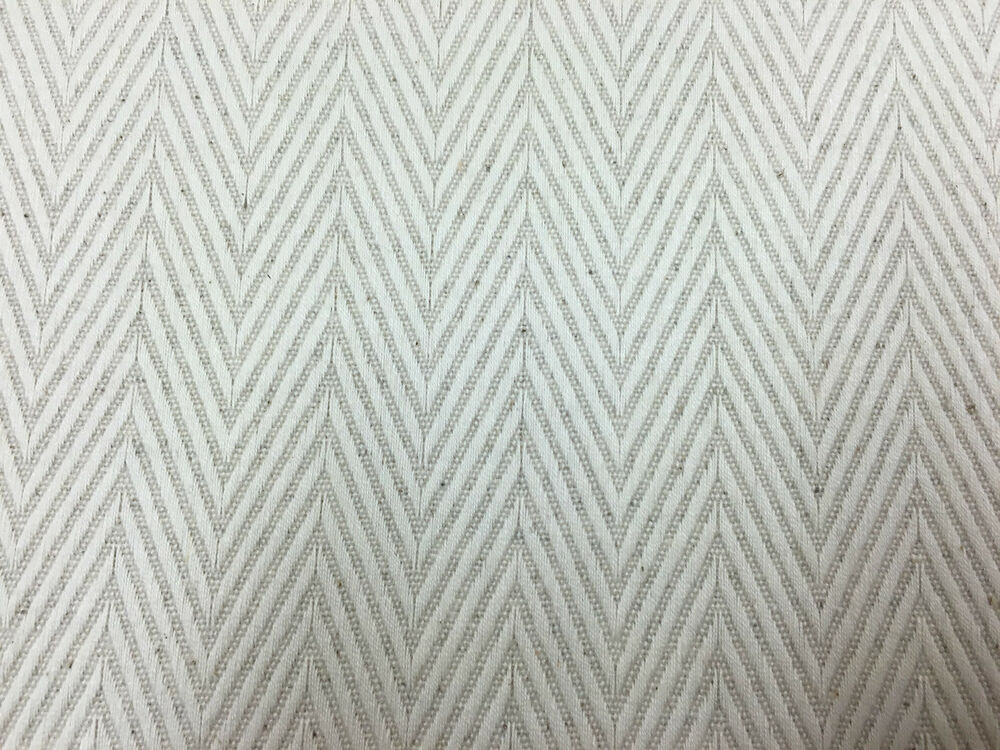 Kings Herringbone Oatmeal Linen Bamboo Curtain Craft Upholstery