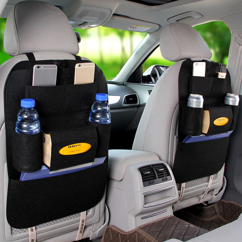 new tidy auto car back seat multi pocket storage organizer tissue holder bag ebay. Black Bedroom Furniture Sets. Home Design Ideas