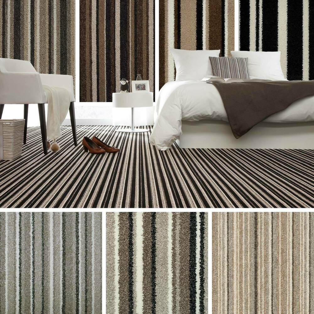 Brown Striped Carpet Beige Stripe Carpet Cheap Carpets
