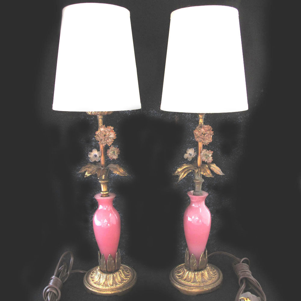pink bedroom lamps vintage murano glass boudoir bedroom lamps decorative pink 12843