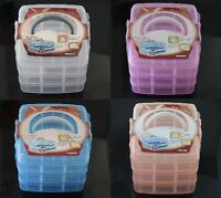 New 3 Layer Hand Carry Plastic Storage Box Container Bead Organizer Case Tray