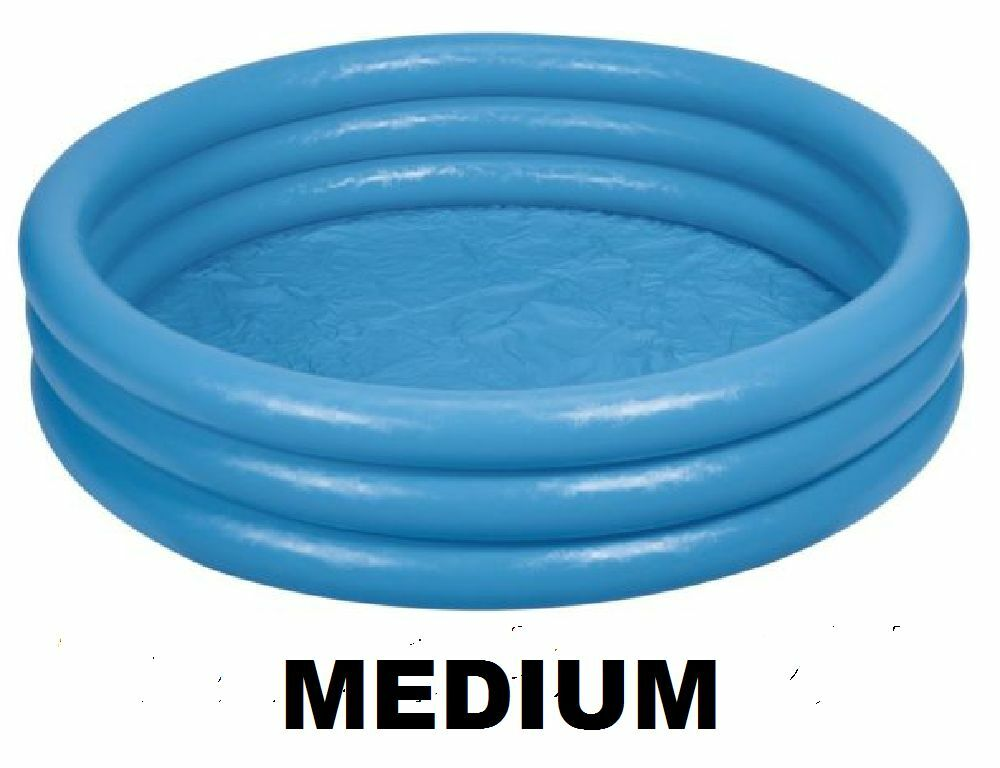 Blue Inflatable Paddling Pool Blow Up Swimming Garden Ball Sand Pit 45x10 59416 Ebay