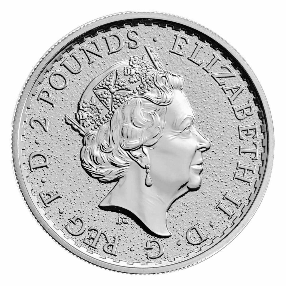 2017 Great Britain 2 Pound 1 Troy Oz 999 Silver