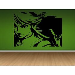LINK-ZELDA WALL DECAL- 33'' X 24''  Home Decal-Game Room-Video Game