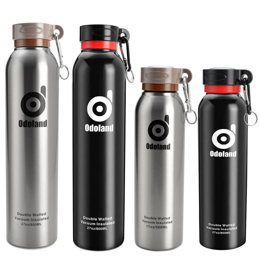 500/800ml Vacuum Insulated Stainless Stell Water Bottle ...