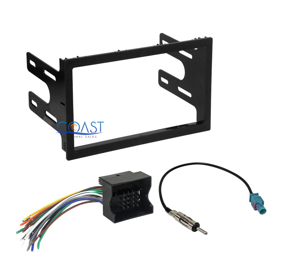 Car Radio Stereo Double Din Dash Kit Harness For 2002