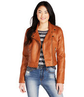 Aeropostale Womens Cape Juby Faux Leather Jacket