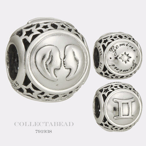 Authentic Pandora Sterling Silver Zodiac Gemini Star Sign