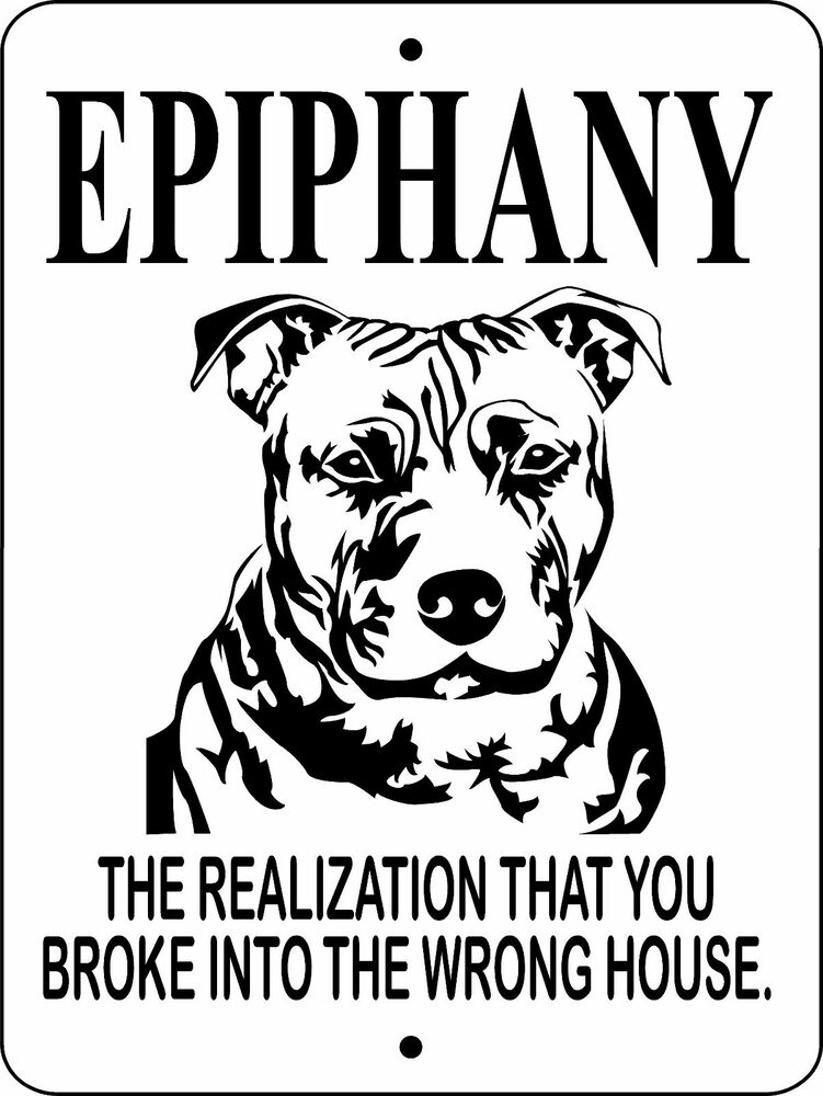 Pit Bull Dog Signpitbullguard Dog Sign9x12 Aluminum Sign