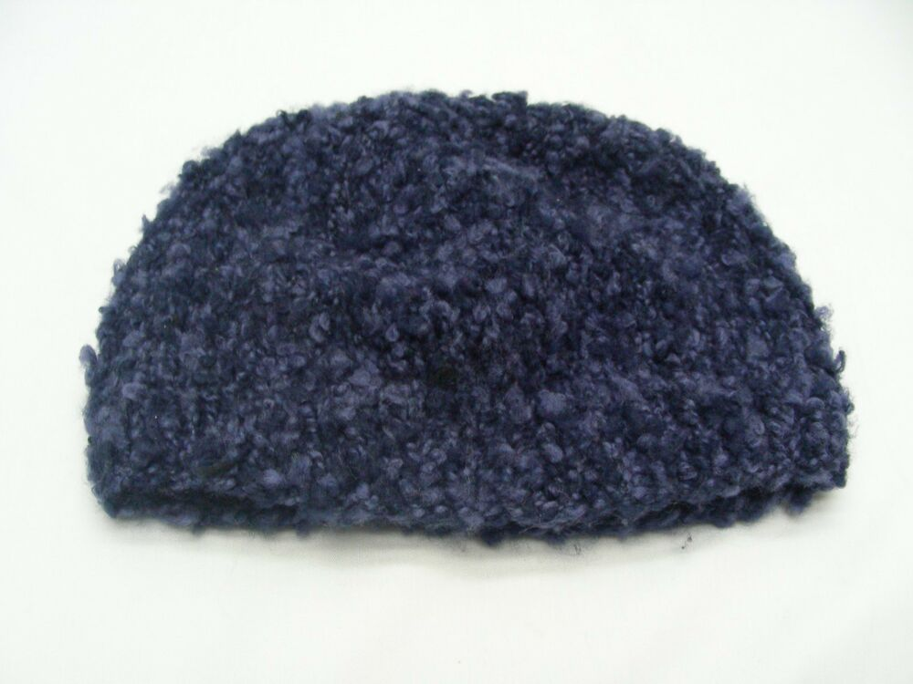 8366e42267c Details about HAND KNITTED - NAVY BLUE - INFANT ONE SIZE - STOCKING CAP  BEANIE HAT!