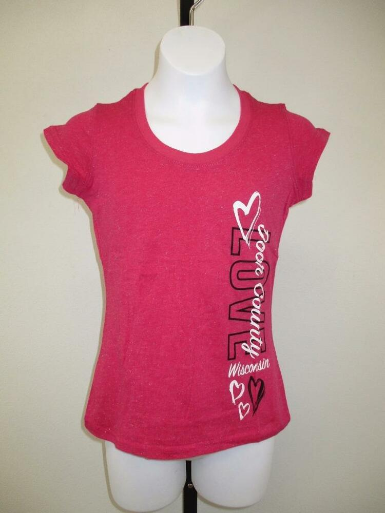 New door county wisconsin youth girls size medium m 7 8 for Girls shirts size 8
