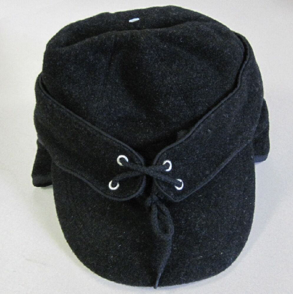 Warm Winter Wool Cap Hat With Ear Flaps For Cowboy Or