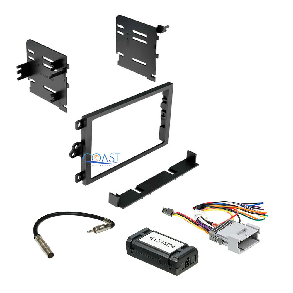 car radio stereo double din dash kit interface harness for. Black Bedroom Furniture Sets. Home Design Ideas