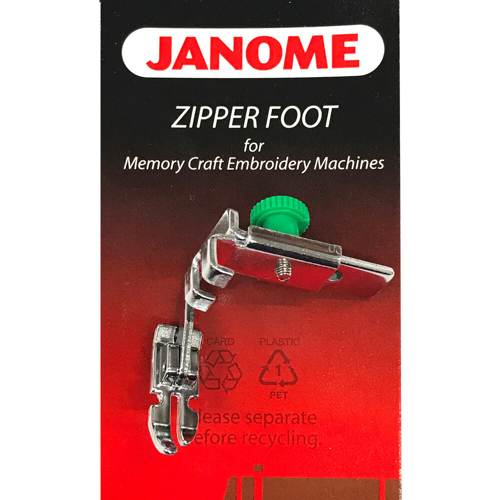 Janome Zipper Foot 200334002 For Memory Craft Embroidery