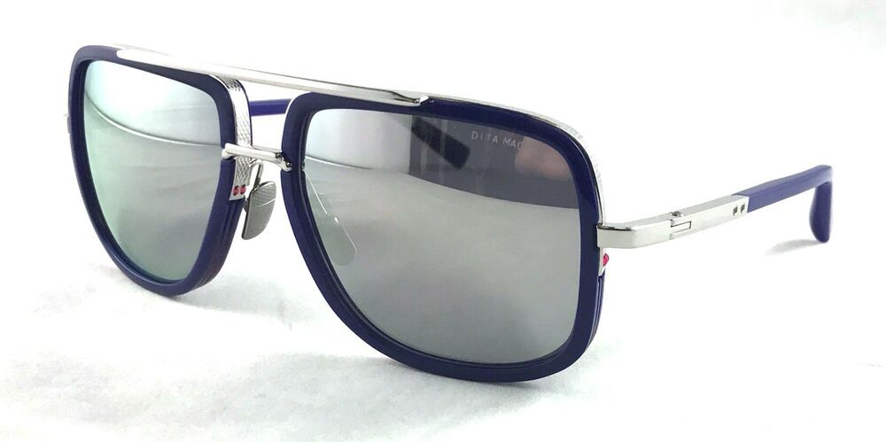 b4f2c2babdf2 Details about DITA MACH ONE DRX-2030-J-BLU-SLV-59 Blue Mirror Lens  sunglasses LIMITED EDITION