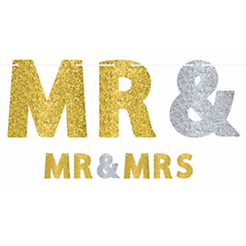 Wedding and engagement mr and mrs letter banner party for Decoration 11 letters