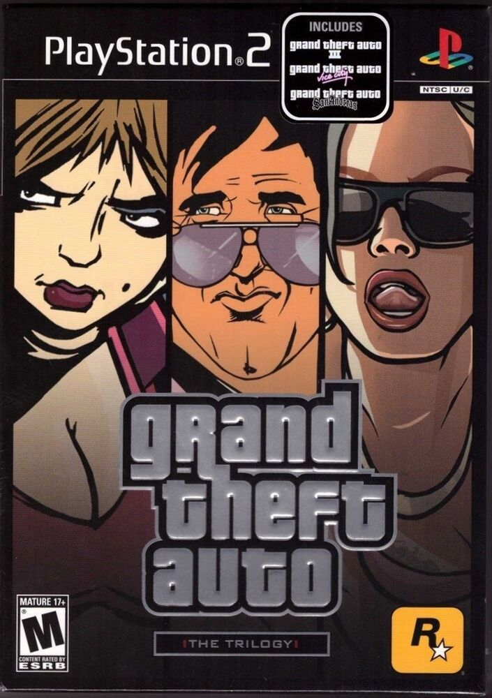 grand theft auto trilogy playstation 2 ps2 gta 3 vice. Black Bedroom Furniture Sets. Home Design Ideas