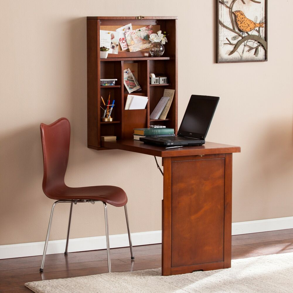 harper blvd darryl fold down wall mount desk ebay. Black Bedroom Furniture Sets. Home Design Ideas