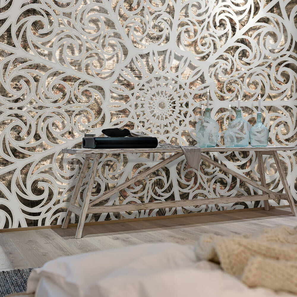 vlies fototapete 3d mandala ornamente vlies tapete xxl. Black Bedroom Furniture Sets. Home Design Ideas
