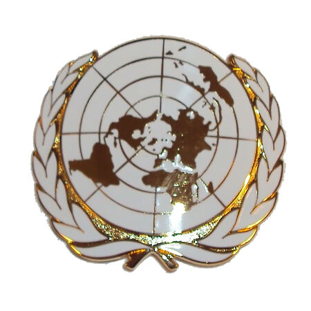 img-New OFFICIAL Issue OR's United Nations Cap Badge - UN Beret Badge