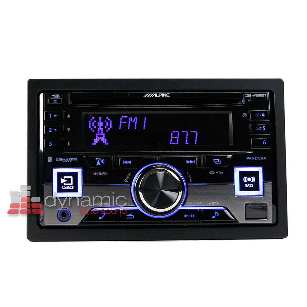 alpine cde w265bt double din bluetooth in dash cd am fm car audio receiver new ebay. Black Bedroom Furniture Sets. Home Design Ideas