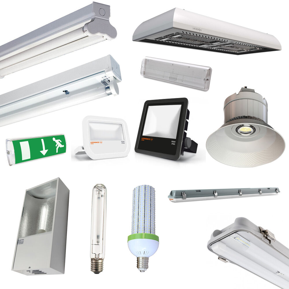 Warehouse & Factory LED Lighting, T8 Fittings, LowBay