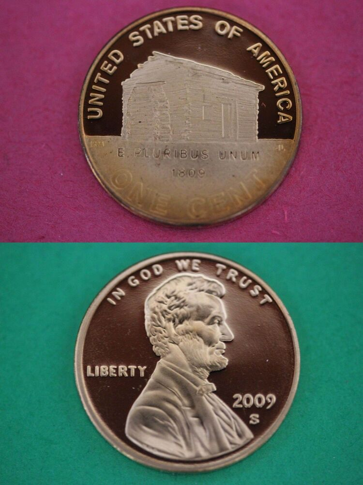 2009 S Proof Lincoln Log Cabin Cent Penny Deep Cameo Flat