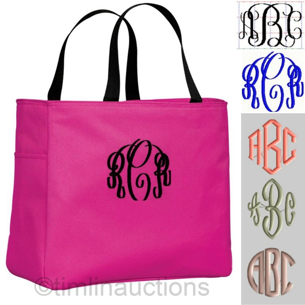 16 Bridal Party Tote Bags Personalized Monogrammed Bride Bridesmaid ...