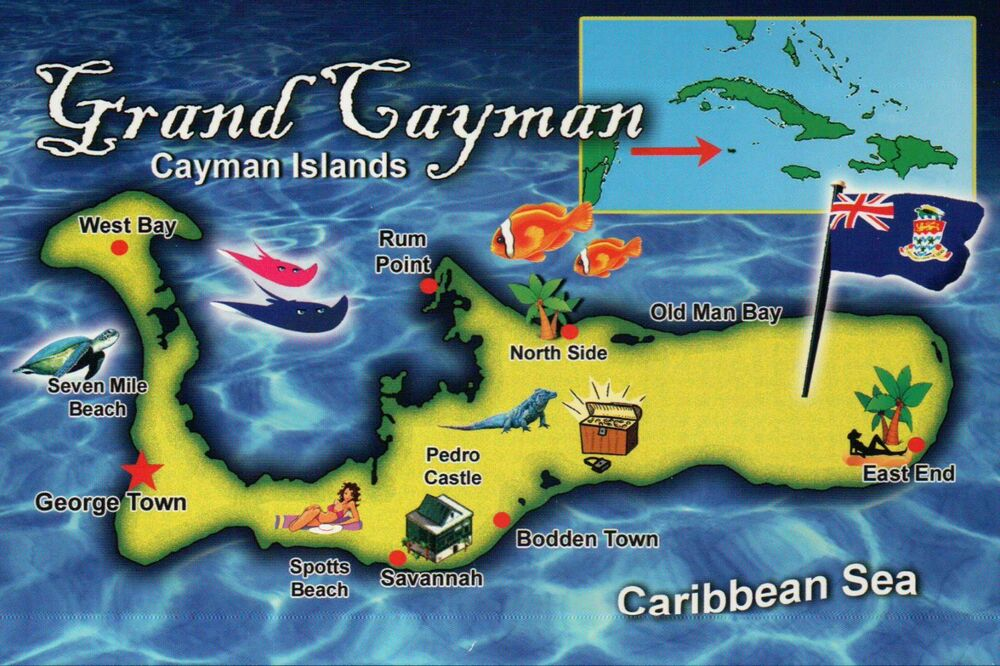 Cayman Islands George Town Map