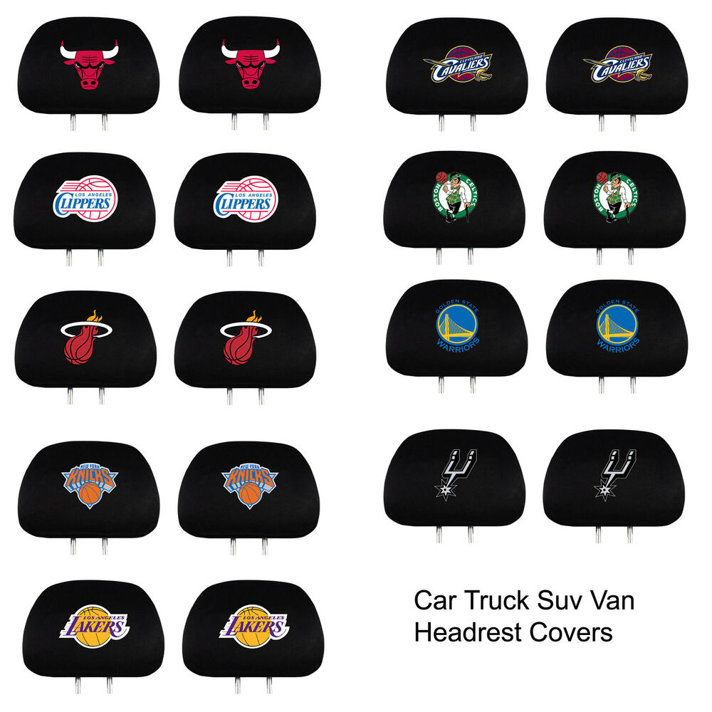 New NBA Pick Your Team Car Truck Suv Embroidered Headrest