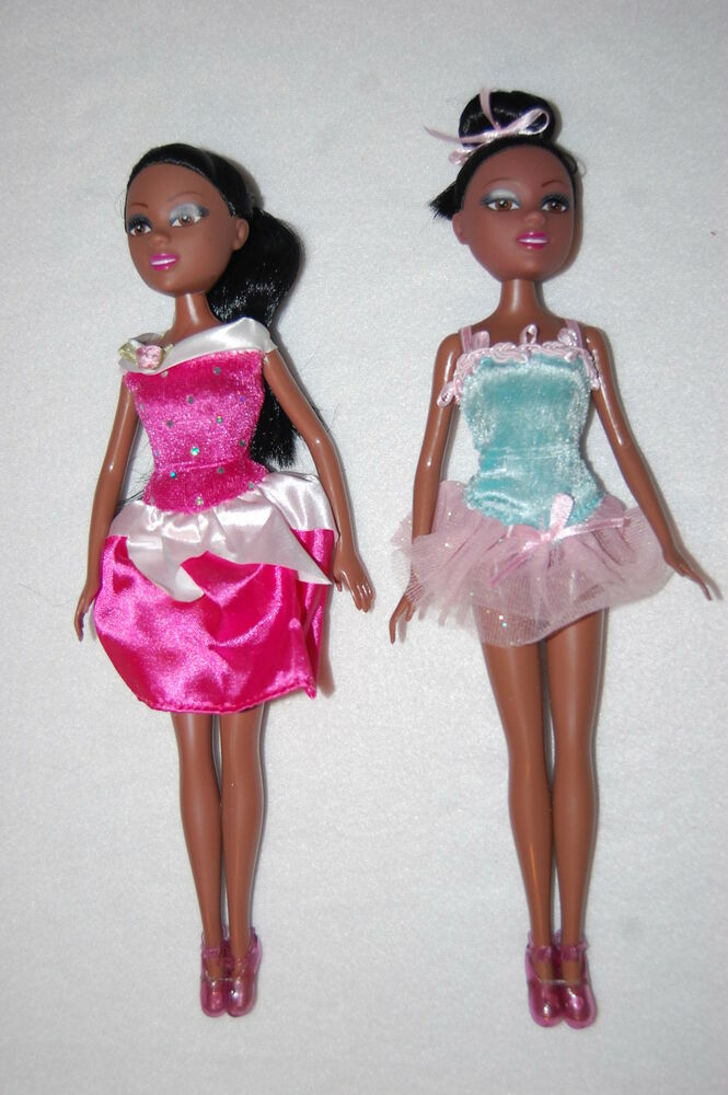 Funville Sparkle Girlz 2 Lot Dolls African American