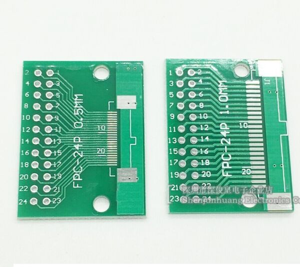 5pcs FFC/FPC 24 Pin 1mm 0.5mm to DIP Adapter PCB Board Converter Double Side