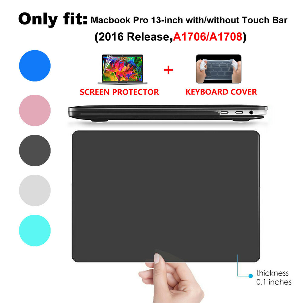 hard case keyboard cover for 2016 macbook pro 13 15 touch bar a1706 a1708 a1707 ebay. Black Bedroom Furniture Sets. Home Design Ideas
