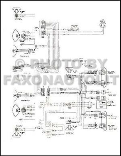 1974 Chevy Ck Truck Wiring Diagram Pickup Suburban Blazer Chevrolet Electrical