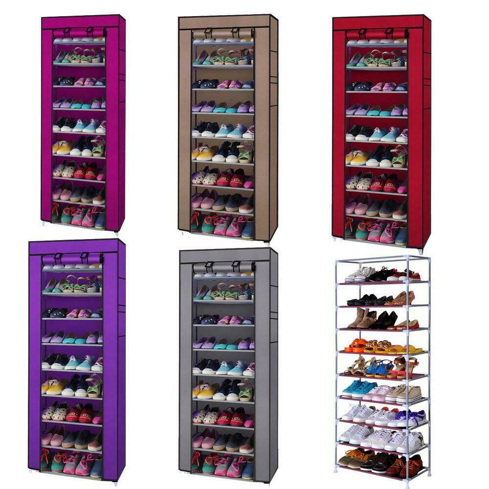 10 Tier Shoe Rack Shelf Saving Storage Closet Organizer