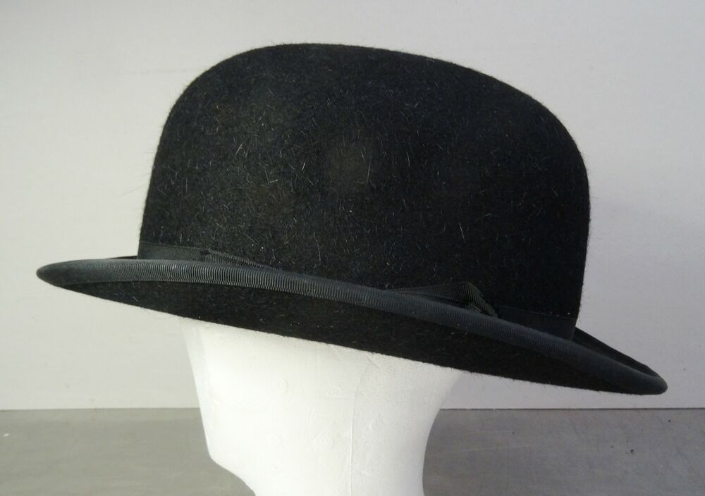 vintage english bowler hat ltere englische melone lock co hatters gr 62 ebay. Black Bedroom Furniture Sets. Home Design Ideas