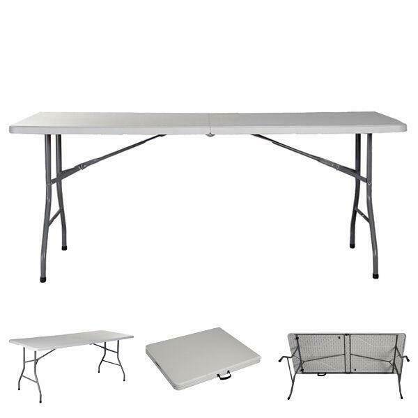 6 ft portable folding table outdoor picnic plastic camping