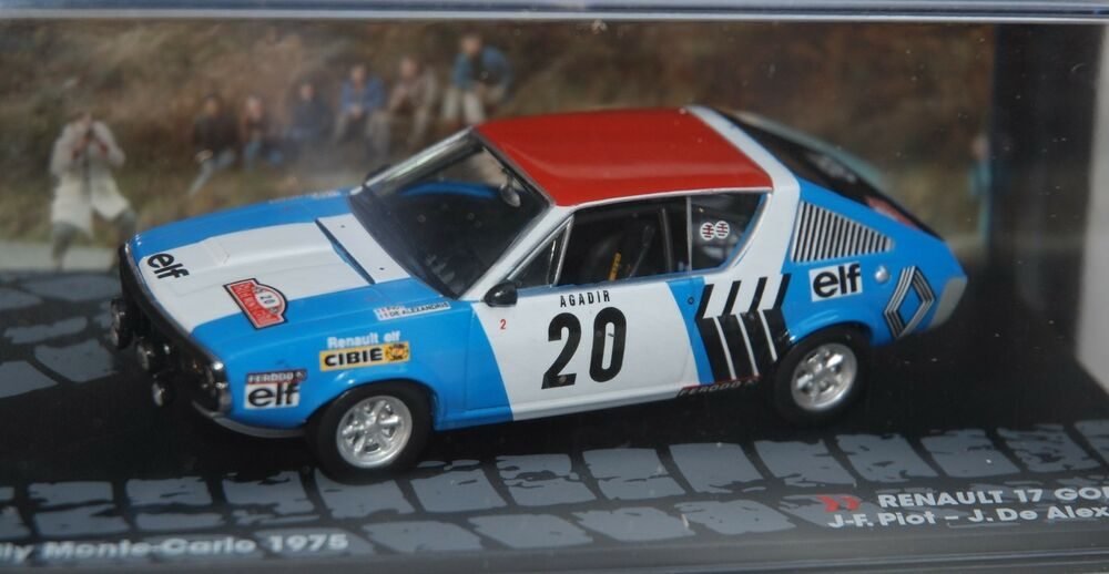 1 43 ixo rally collection renault 17 gordini 20 monte carlo 1975 ebay. Black Bedroom Furniture Sets. Home Design Ideas