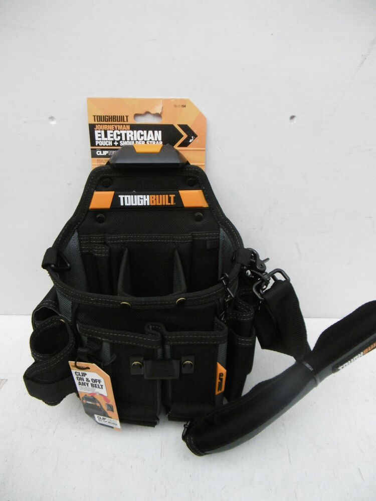 707e651ab7 TOUGHBUILT JOURNEYMAN ELECTRICIANS POUCH + SHOULDER STRAP TB CT 114 ...