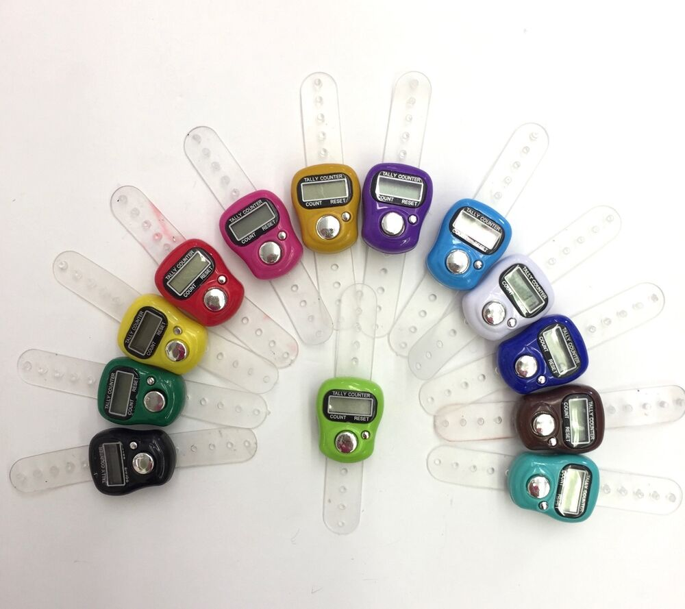 Knitting Row Counter For Finger : Knitting crochet row stitch counter lcd digital electronic
