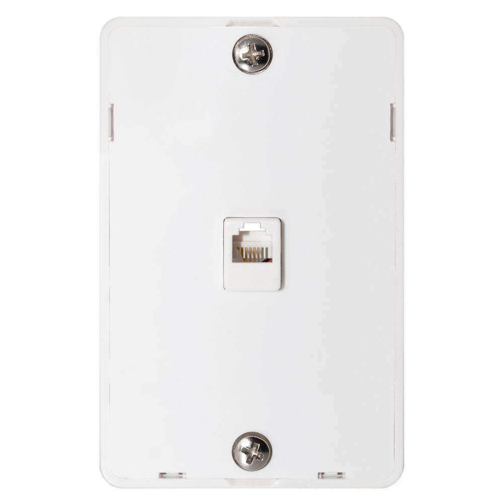 Ge Phone Jack Wall Mount Plate Telephone Outlet 6