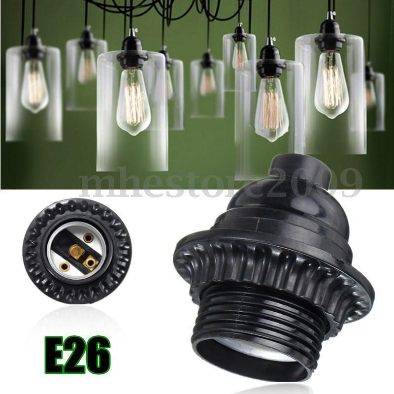 E26/E27 Retro Vintage Light Socket Keyless Hanging Pendant