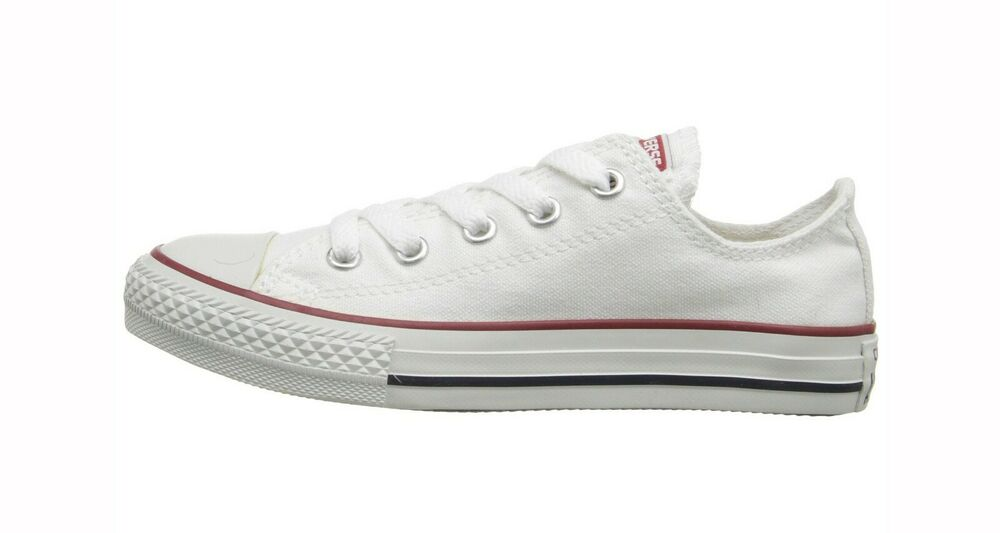 CONVERSE All Star Lo Top Optical White Youth Sneakers ...