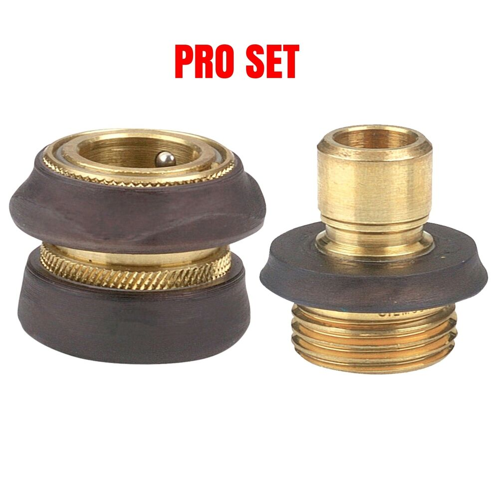 New Gilmour Pro Model Brass Water Garden Hose Quick Connect Set Sale Ebay